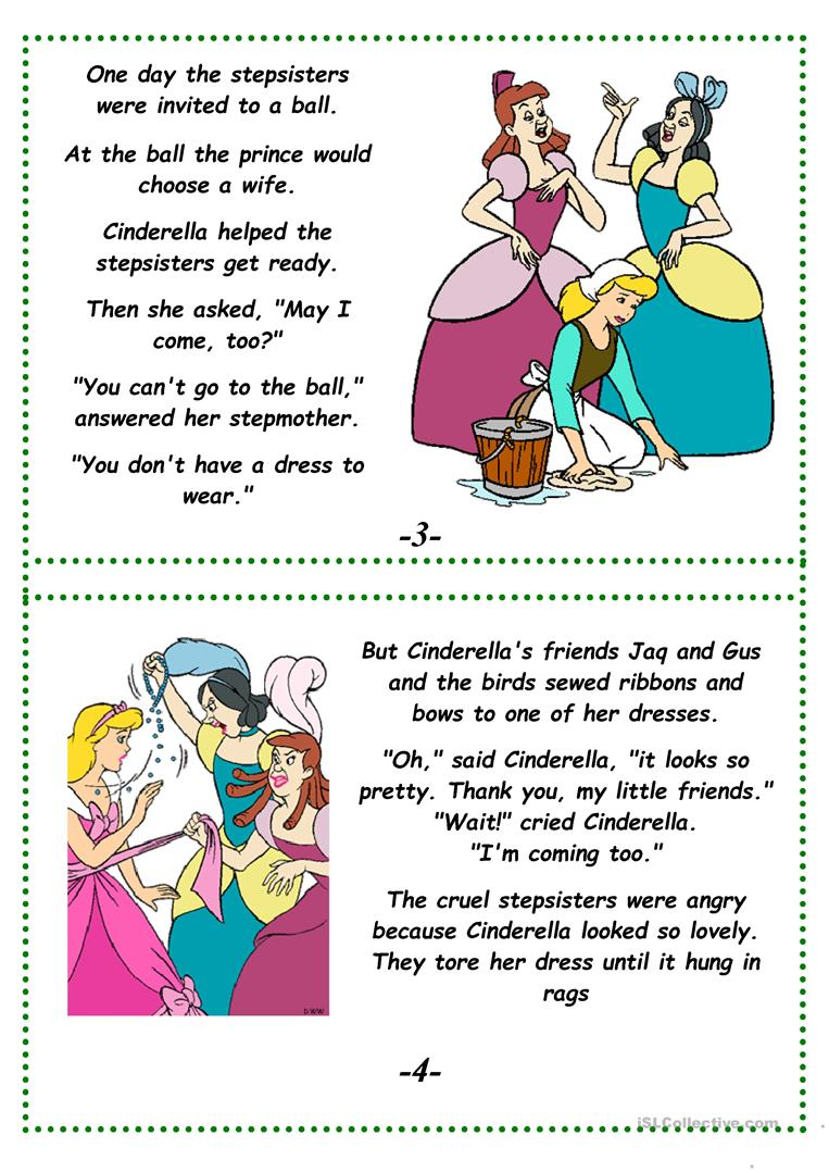 Cinderella a fairy tale worksheet free esl printable full screen robcynllc Image collections