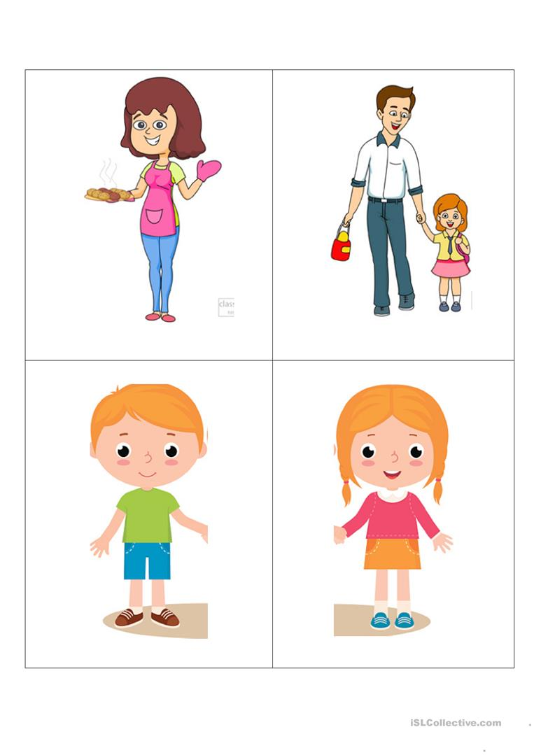 Clarissa055 Family Flashcards For Young Learners