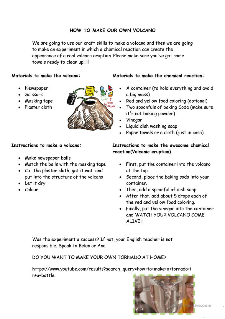 Worksheets Volcano Worksheet how to make your own volcano worksheet free esl printable full screen