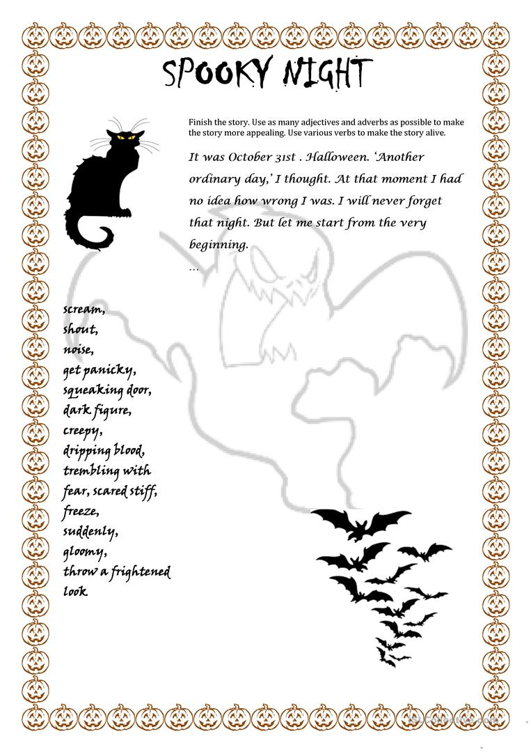 Spooky Night English Esl Worksheets For Distance Learning And Physical Classrooms