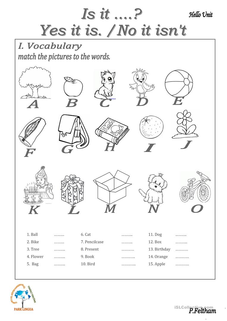 Verb To be (Is it...? / Yes,it is. - No, it isn't) worksheet - Free ...
