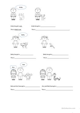 25 FREE ESL tiger worksheets