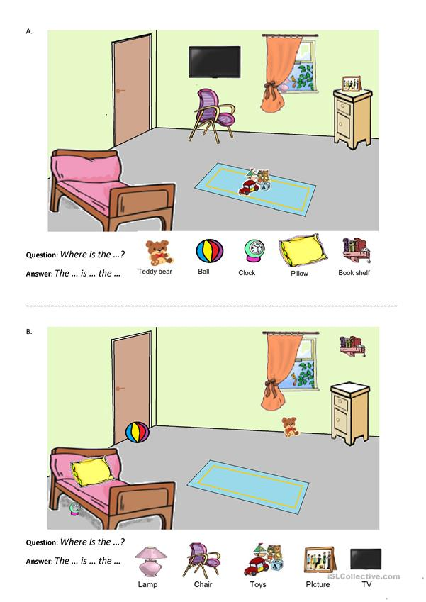 Bedroom information gap activity