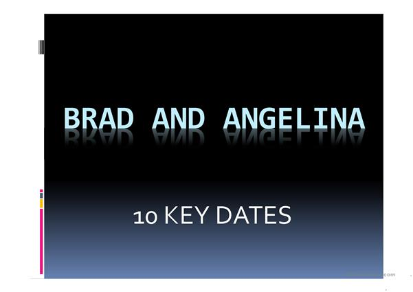 Brad and Angelina's 10 key dates