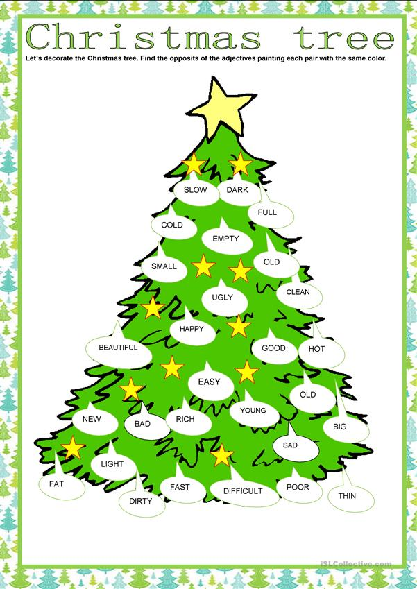 Christmas tree- Adjectives