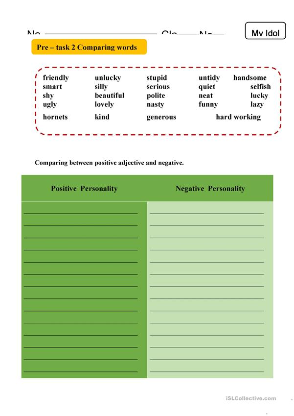 Comparing adjective