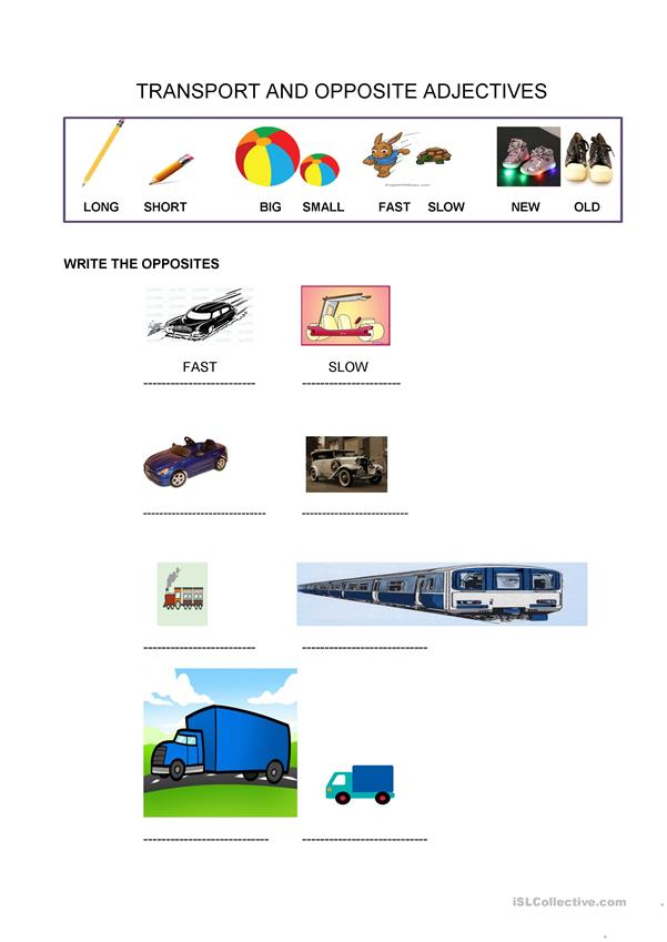 EXPLORERS 2 UNIT 2 TRANSPORT AND OPPOSITE ADJECTIVES