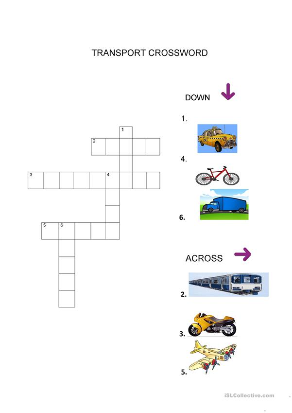 EXPLORERS 2 UNIT 2 TRANSPORT CROSSWORD