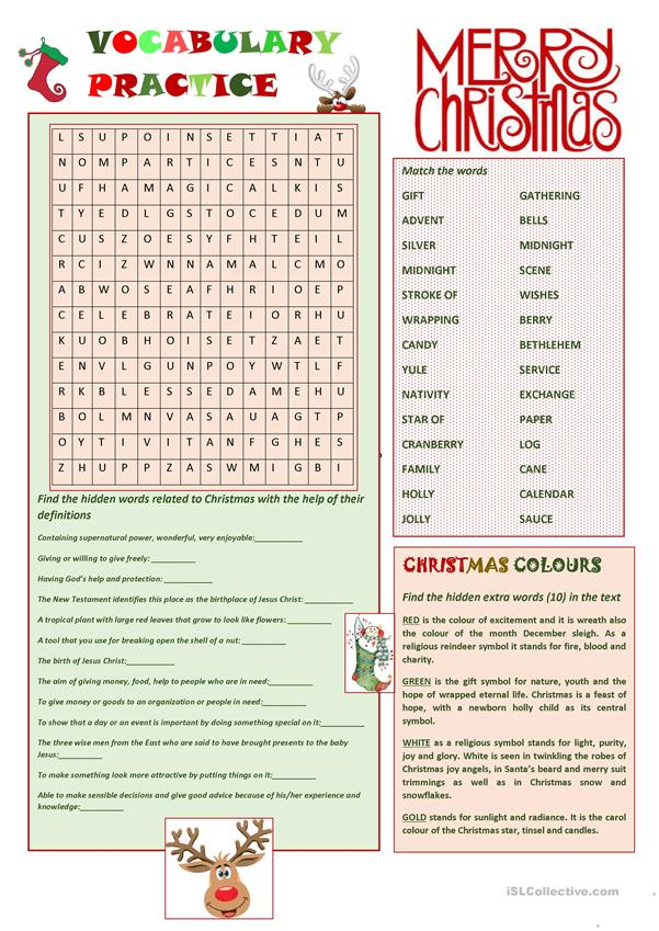 Vocabulary Practice - Christmas