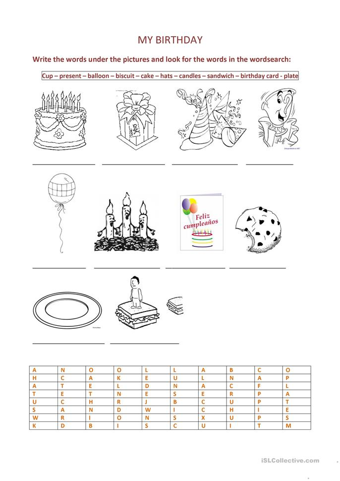 birthday party worksheet free esl printable worksheets made by teachers. Black Bedroom Furniture Sets. Home Design Ideas