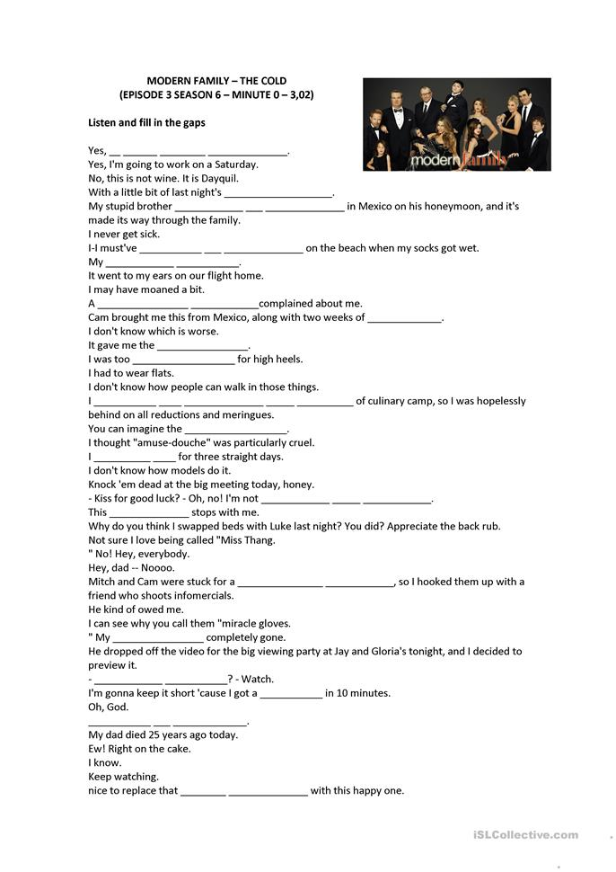 Vocabulary Worksheets For Adults : Cold vocabulary activity worksheet free esl printable