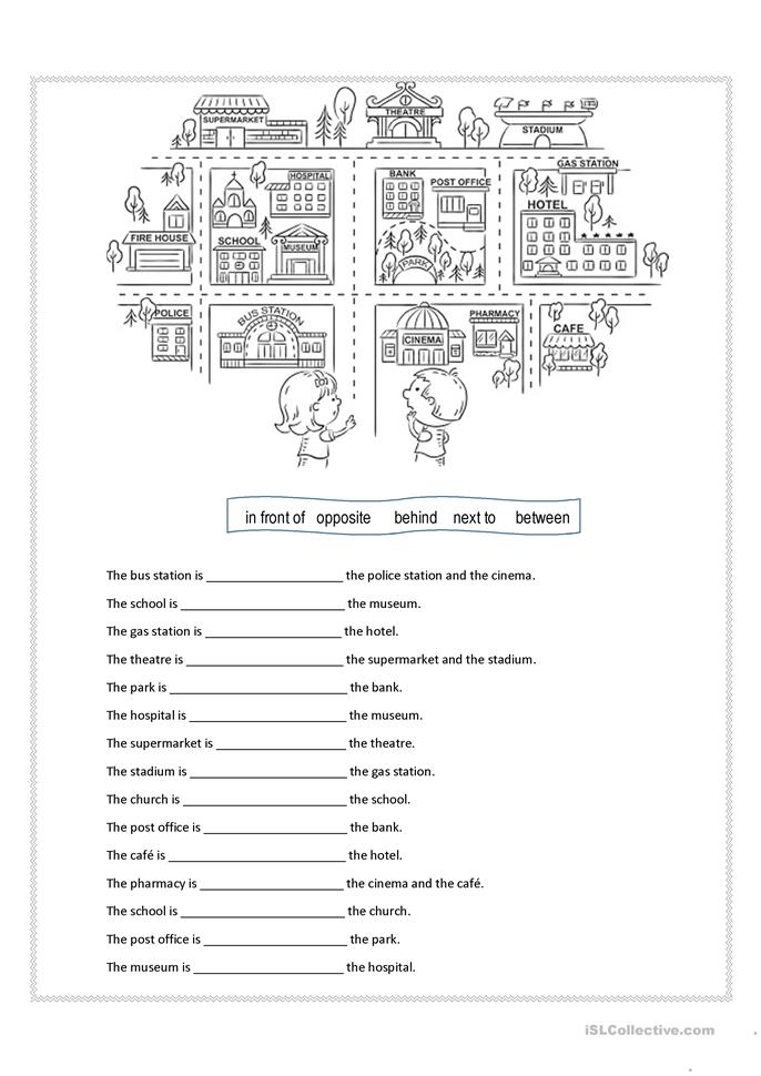 Preposition In Learn In Marathi All Complate: 32 FREE ESL Between Worksheets