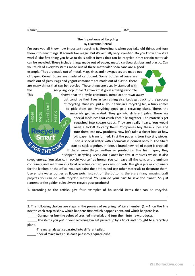 recycling college essay Do you wish your school or college provided recycling bins for single-use water  bottles what about the worldwide impact our consumption habits are having as .