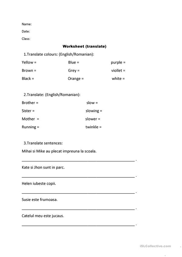 Worksheet Or Test Paper - Grade 4th, Grade 3th - English ESL Worksheets For  Distance Learning And Physical Classrooms