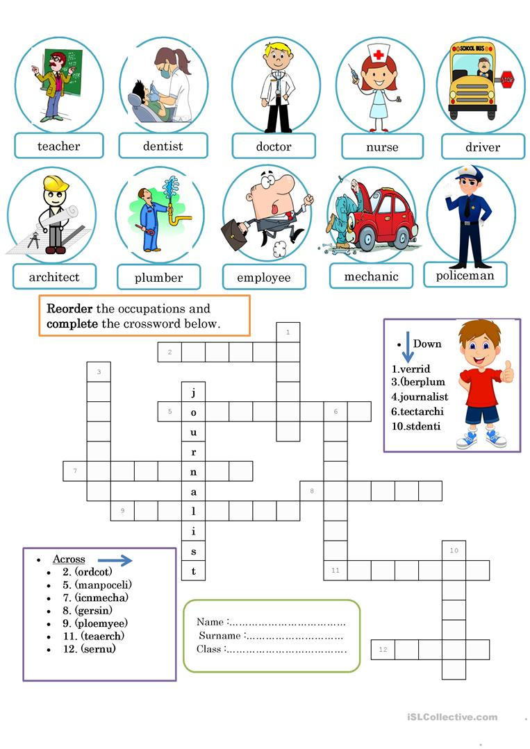 jobs game - English ESL Worksheets for distance learning ...
