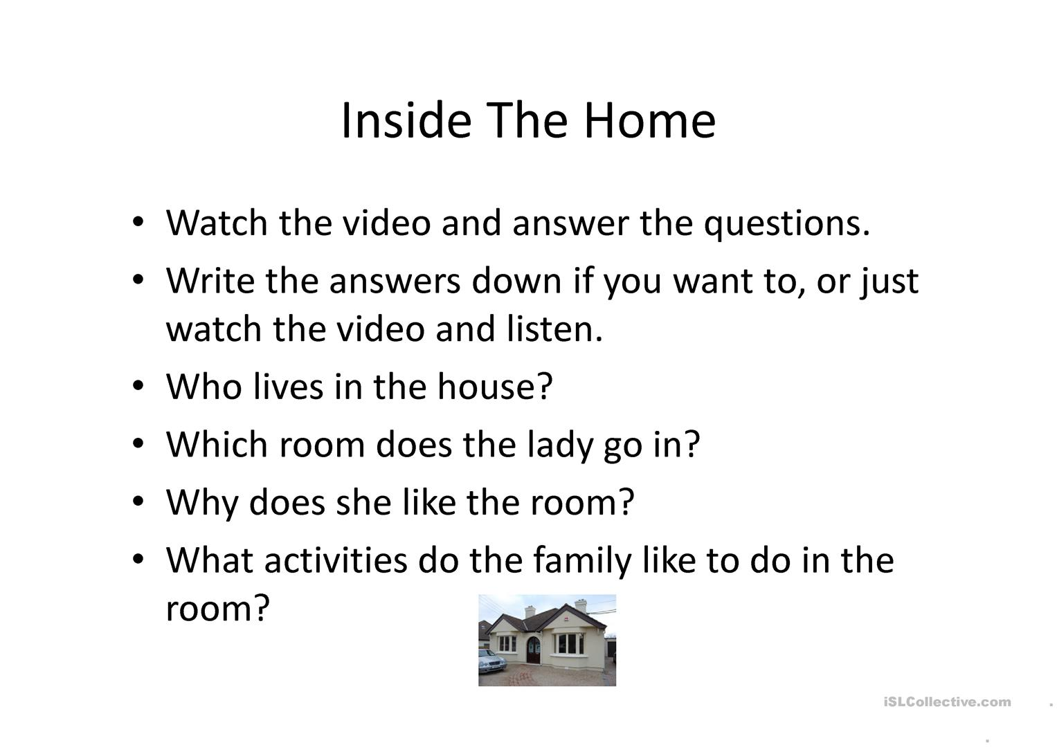 Me And My Home Worksheet Free Esl Projectable Worksheets Made By