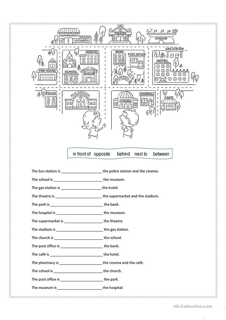 Prepositions of place - English ESL Worksheets