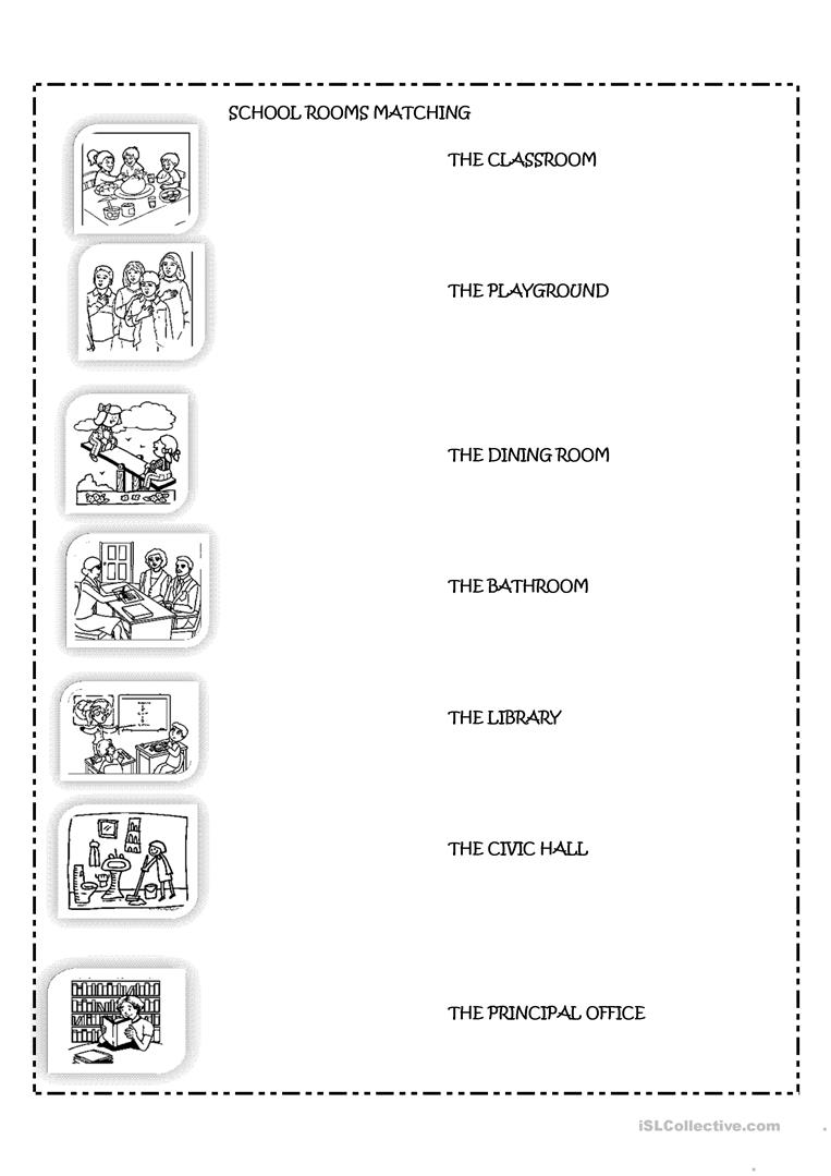 The school rooms worksheet - Free ESL printable worksheets made by ...