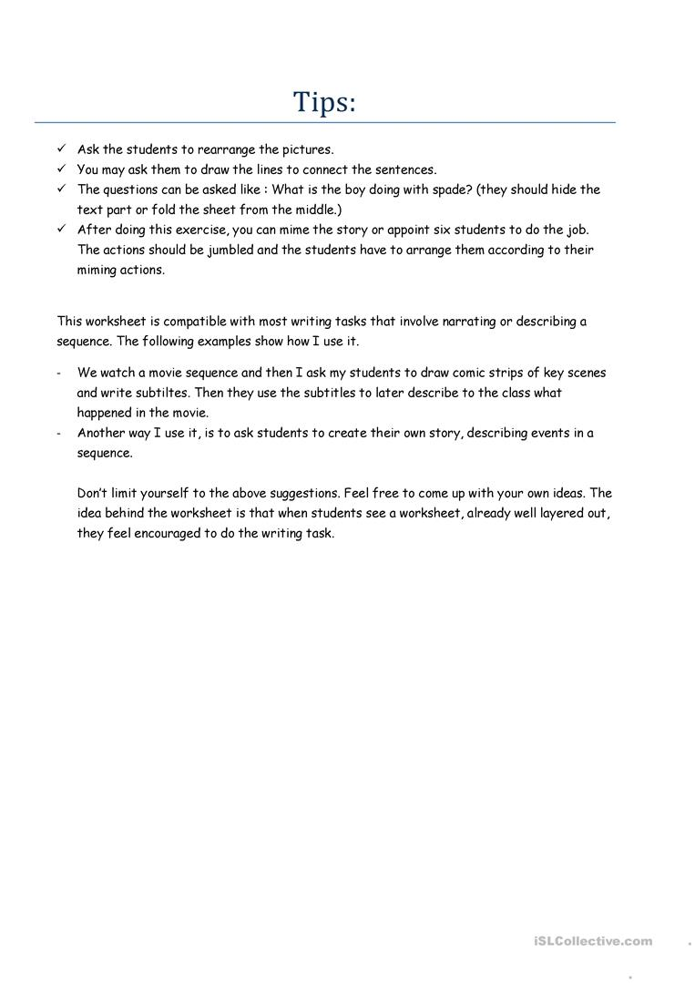 The story sequence worksheet free esl printable worksheets made the story sequence full screen robcynllc Choice Image