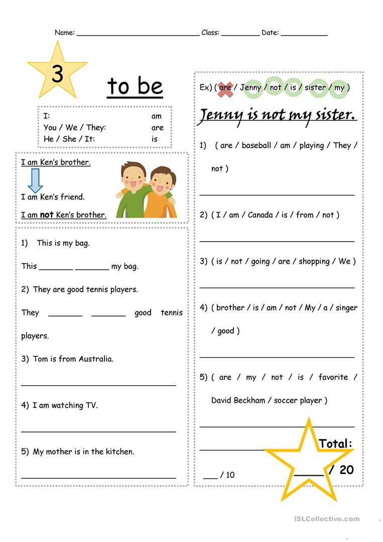 To be verb practice Level 3 - English ESL Worksheets