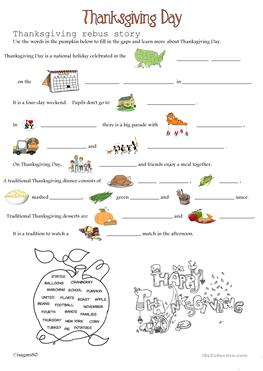 English Esl Thanksgiving Day Worksheets Most Downloaded 34 Results