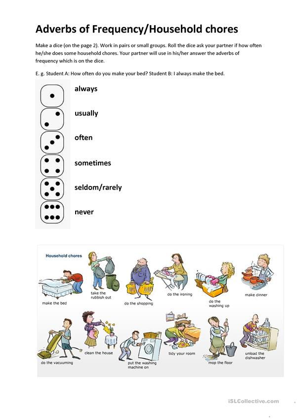 Adverbs of Frequency/Household Chores