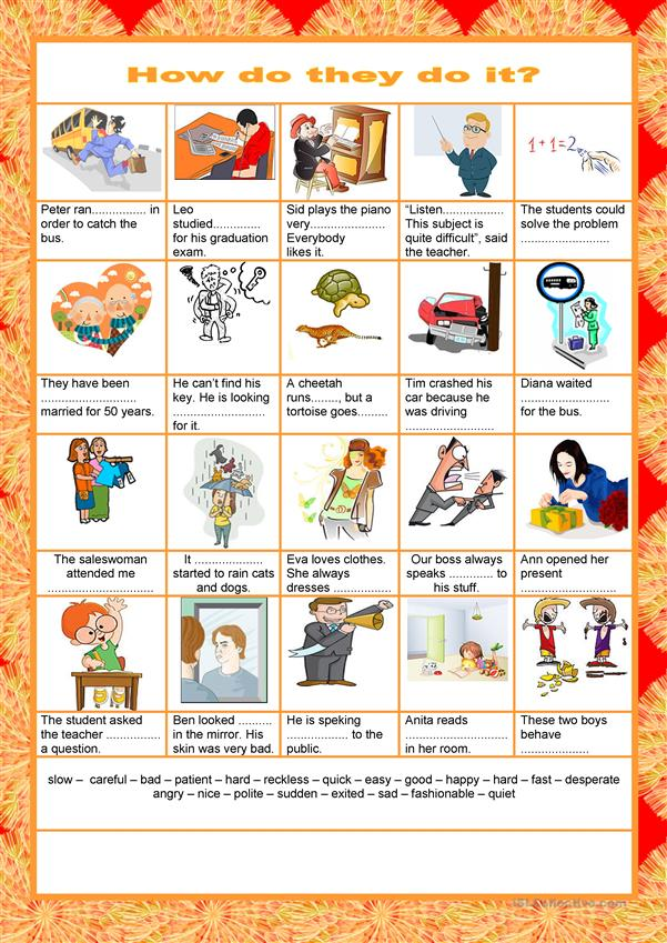 Adverbs of manner  - How do they do it?