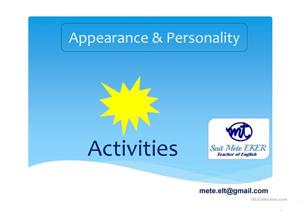 Appearance & Personality