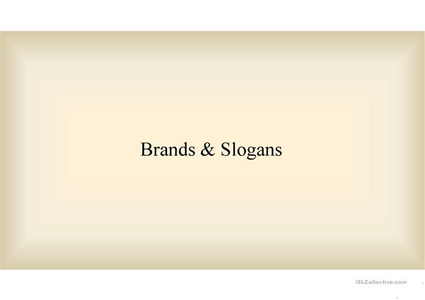 Brands and slogans
