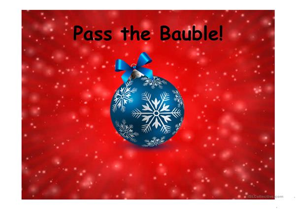 Christmas Pass the ball
