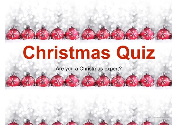 Christmas TV quiz show for teenagers
