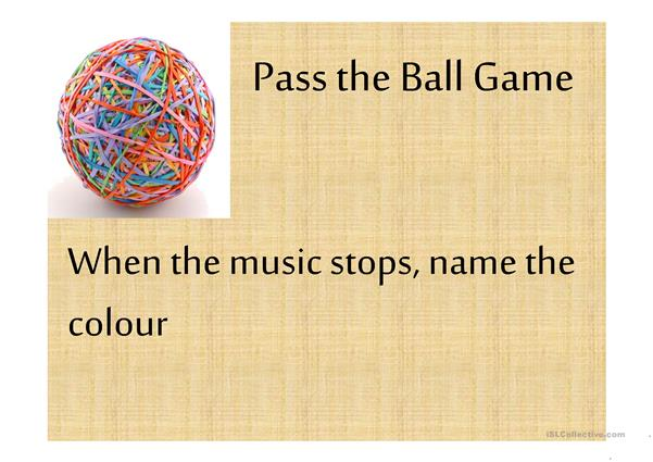 Colors Pass the ball game
