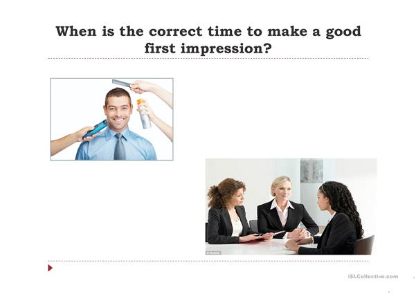 First Impressions Conversation