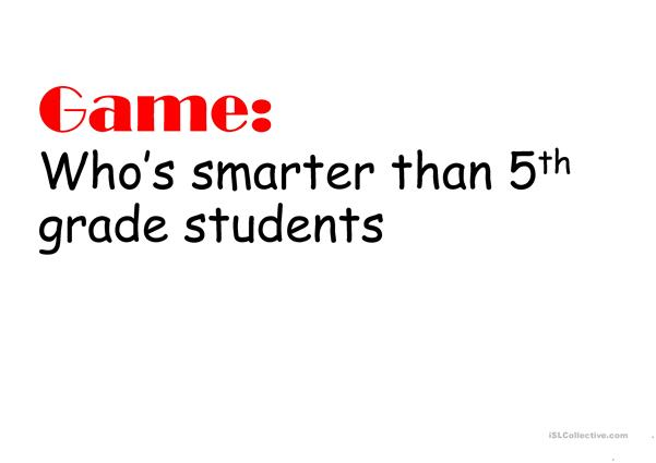Game - Who is smarter?