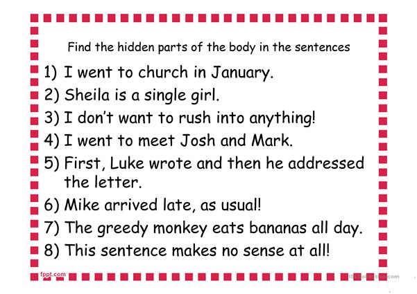 Lexical Activities/Word Games