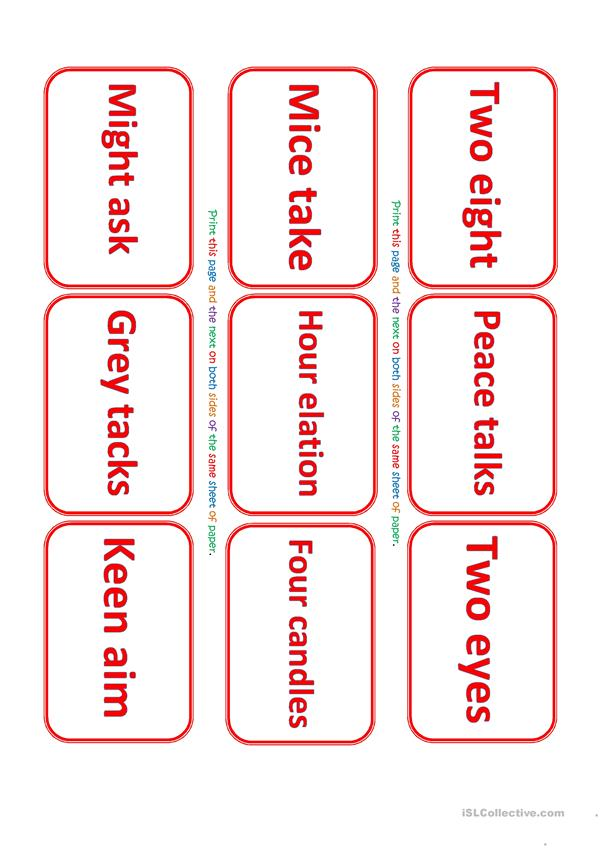 Oronyms Exercise and Game