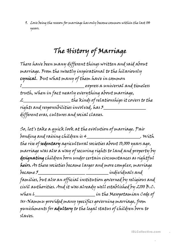 The History of Marriage TED ed