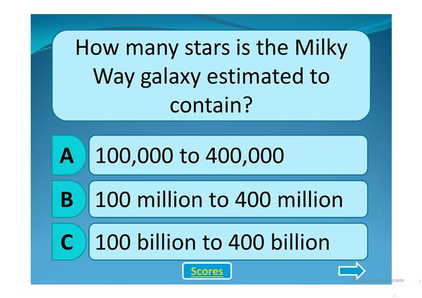 The Milky Way Quiz