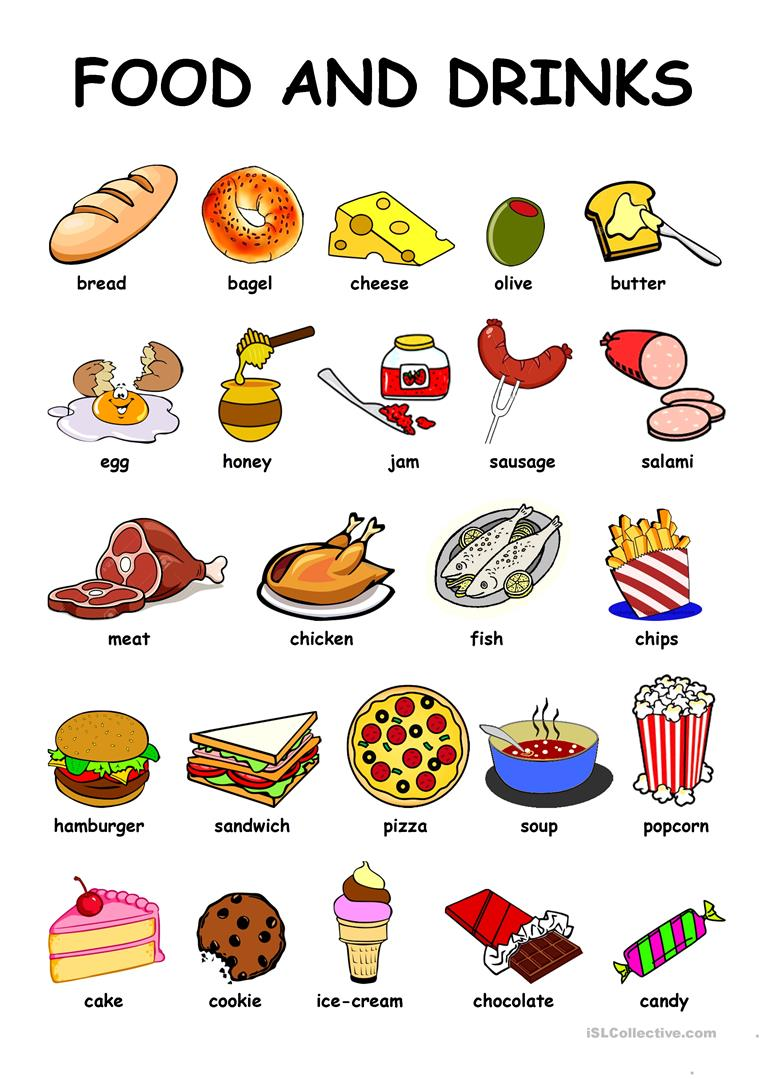 Food & Drinks - English ESL Worksheets for distance learning and ...
