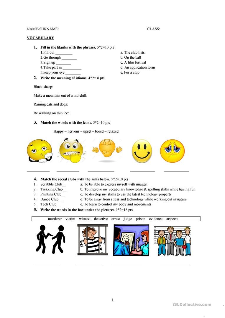 - Grade 10 Exam - English ESL Worksheets For Distance Learning And