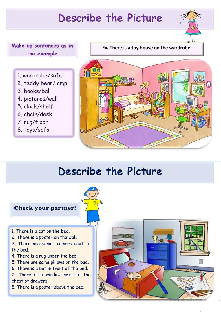 there is there are pairwork 2 pages english esl worksheets. Black Bedroom Furniture Sets. Home Design Ideas