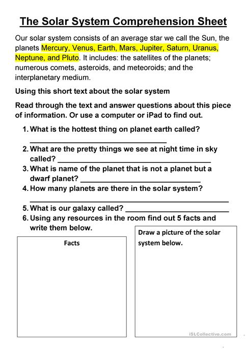 together with Image Of Worksheet Free Pla  Earth Worksheets For Kids Solar also solar system printable worksheets in addition free pla  worksheets further 6th Grade Solar System Worksheets Grade Solar System Worksheets The also free printable solar system worksheets as well The Solar System  prehension Sheet worksheet   Free ESL printable besides Touring the Solar System   TeacherVision likewise  likewise Solar System Worksheets  Free Printables   The Happy Housewife additionally  together with printable solar system – person of the day info as well Coloring Pages   Coloring Book For Kids Pdf Solar System Printable likewise Free Solar System Worksheet Printables and Activities in addition solar system worksheets 3rd grade likewise Pla  Worksheets For 5th Grade What Are The Outer Pla s Graphic. on solar system printable worksheets free
