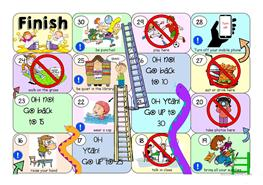 MUST MUSTNT SNAKES AND LADDERS