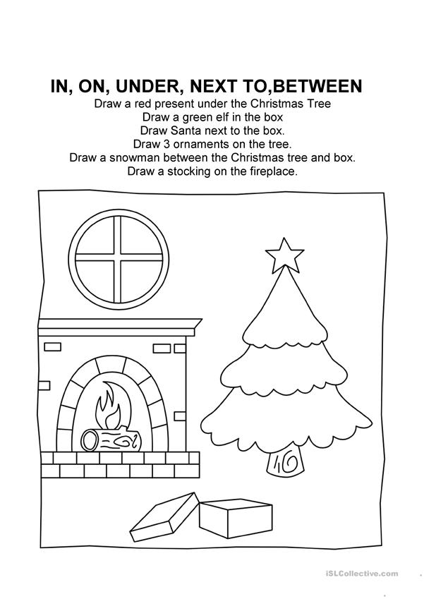 Christmas Prepositions