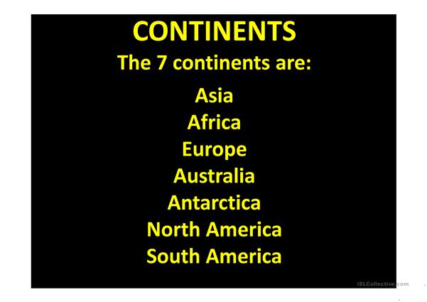 CONTINENTS COUNTRIES AND FLAGS