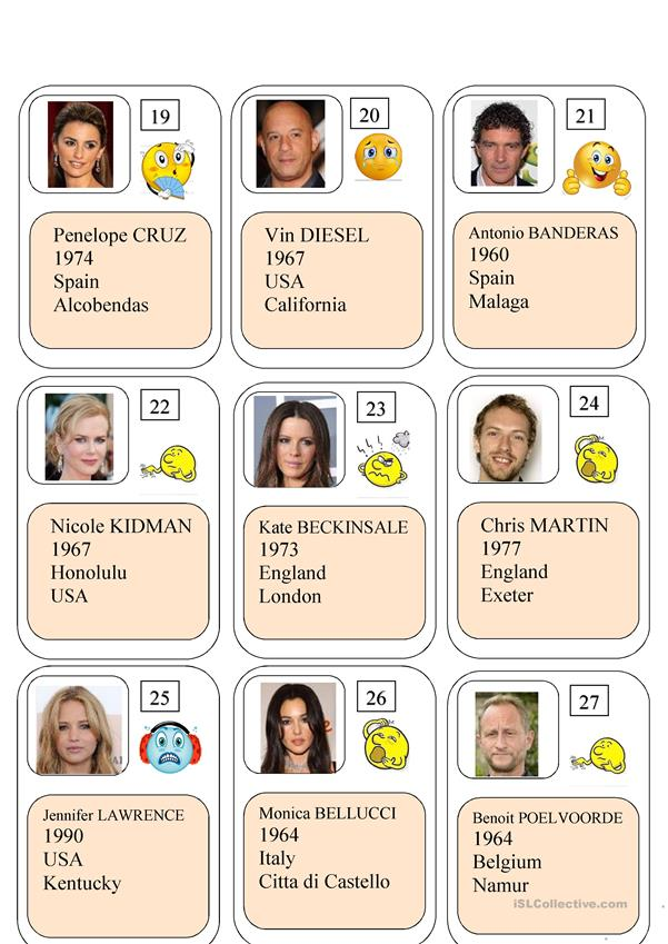Famous people (cards)
