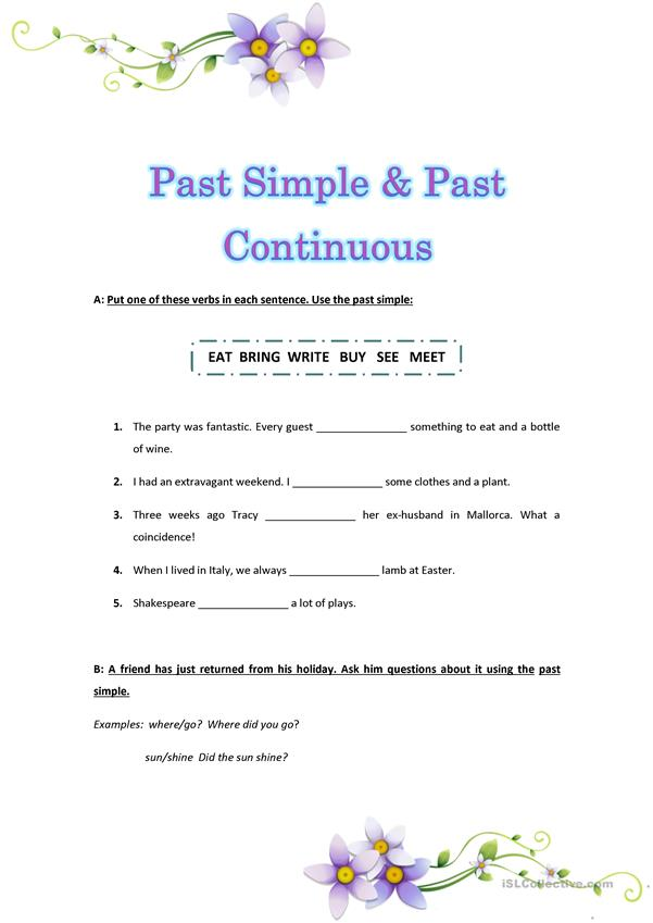Past Tense: Simple or Progressive?