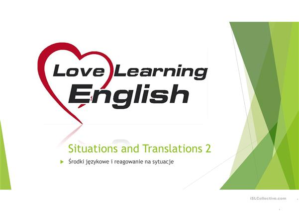 Situations and translations 2