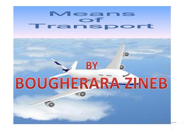 TRANSPORT BY ZINEB BOUGHERARA