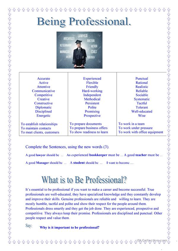 What is to Be Professional?